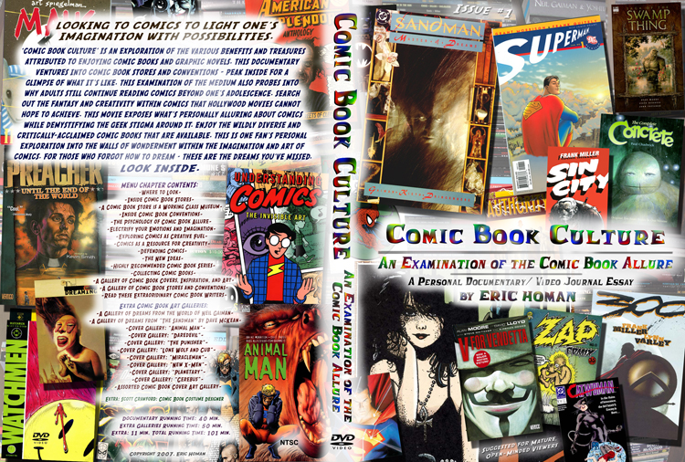 Comic Book Culture DVD cover copy